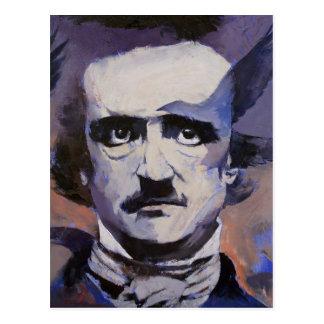 Postal del retrato de Edgar Allan Poe