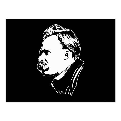 Postal del retrato de Frederich Nietzsche