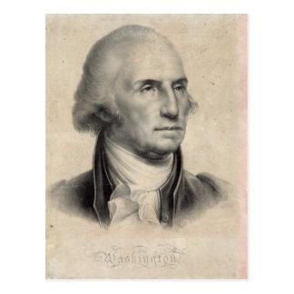 Postal del retrato de George Washington