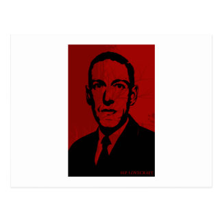 Postal del retrato de HP Lovecraft