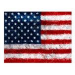 Postal del retrato de la bandera americana