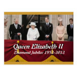 Postal del retrato de la familia real del jubileo