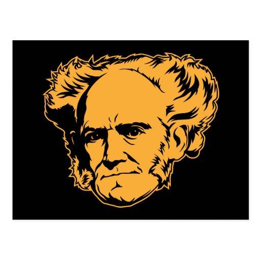 Postal del retrato de Schopenhauer