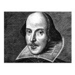 Postal del retrato de William Shakespeare
