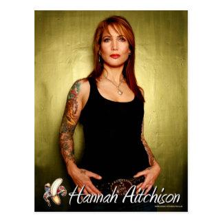 Postal del retrato - Hannah Aitchison en verde