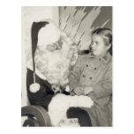 Postal del revestimiento de Santa