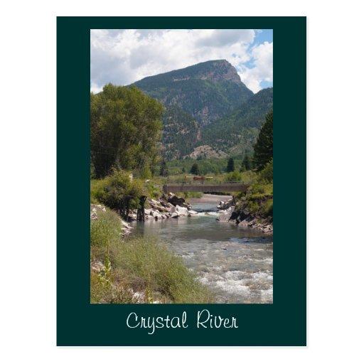 Postal del río Crystal
