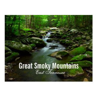Postal del río de Great Smoky Mountains