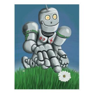 Postal del robot de la cosecha de la margarita