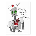 Postal del robot de la enfermera