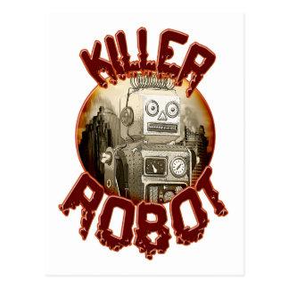 Postal del robot del asesino