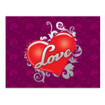 Postal del rojo del amor