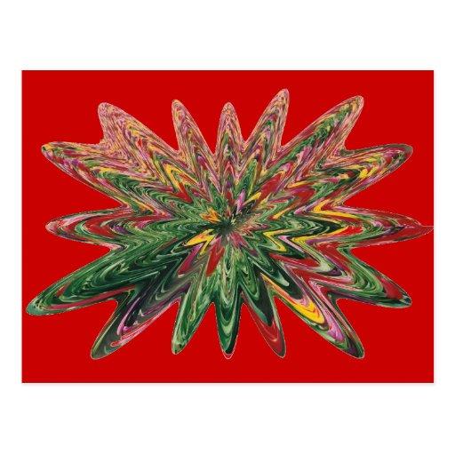 Postal del rojo del diseño de los tulipanes que se