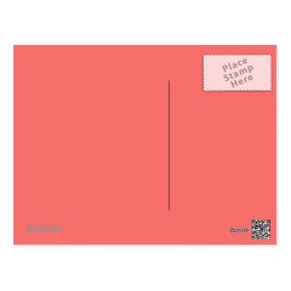 Postal del rosa de color salmón