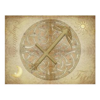 Postal del sagitario de la muestra del zodiaco
