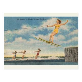 Postal del salto de esquí de los jardines de la