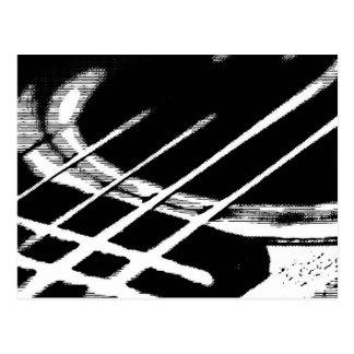 Postal del saludo de la guitarra