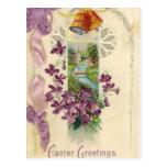 Postal del saludo de Pascua del día de fiesta del
