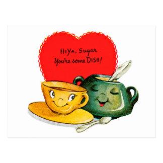 Postal del saludo del el día de San Valentín del v
