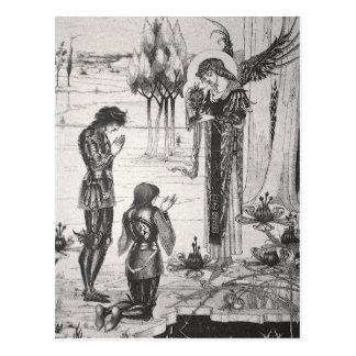 Postal del santo grial de Beardsley