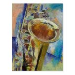 Postal del saxofón