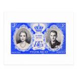 Postal del sello de los derechos de Mónaco