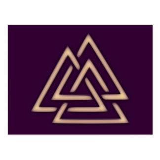 Postal del símbolo de Valknut