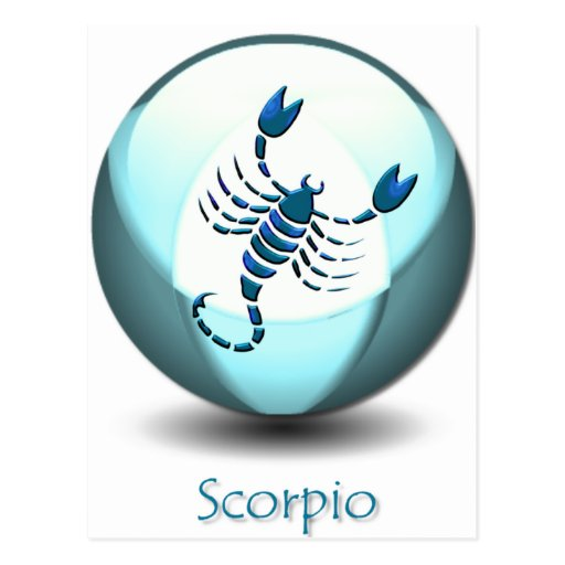 Postal del símbolo del escorpión