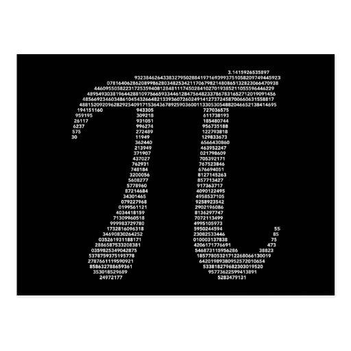 Postal del símbolo del pi
