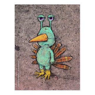 postal del slurkey de la acción de gracias