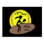 Postal del softball de Fastpitch