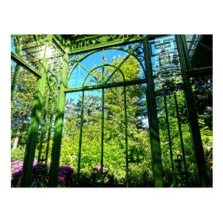 Postal del solarium de la ventana del jardín