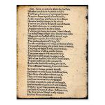 Postal del soliloquio de Shakespeare Hamlet