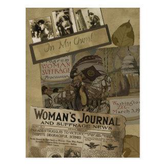 Postal del sufragio de las mujeres del vintage 191