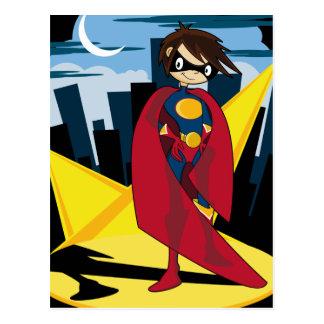 Postal del super héroe del chica