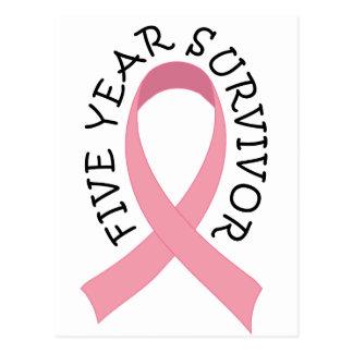 Postal del superviviente del cáncer de pecho de 5