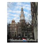 Postal del sur de Amsterdam de la iglesia de Zuide