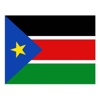 Postal del sur de la bandera de Sudán