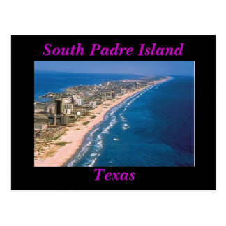 Postal del sur de la isla de Padre