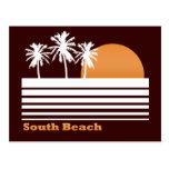 Postal del sur retra de la playa