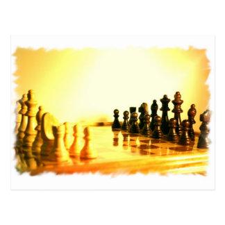 Postal del tablero de ajedrez