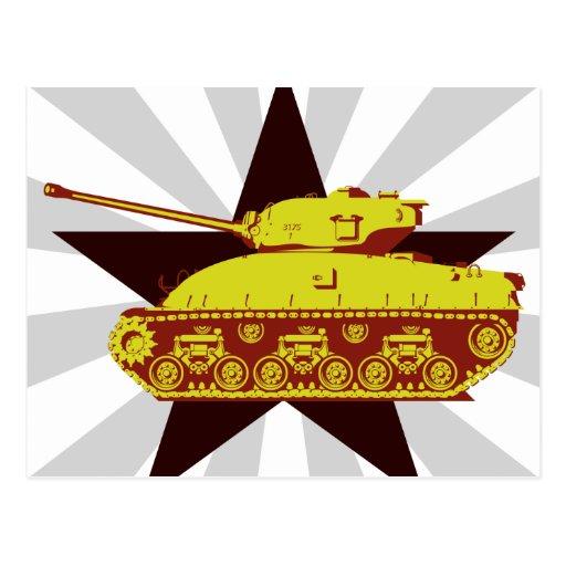 Postal del tanque (starburst)