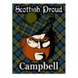 Postal del tartán de Campbell del escocés