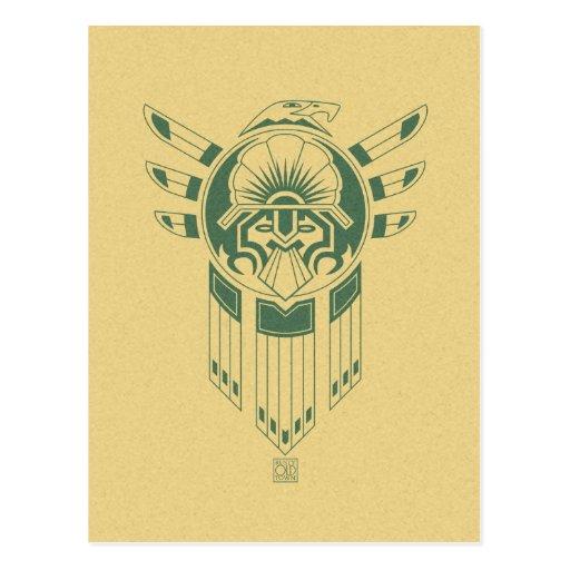 Postal del tatuaje del pájaro del inca
