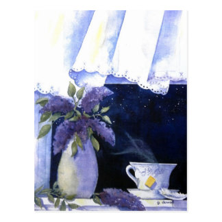 Postal del té y de las lilas