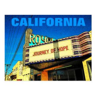 Postal del teatro de California