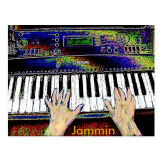 Postal del teclado de Jammin