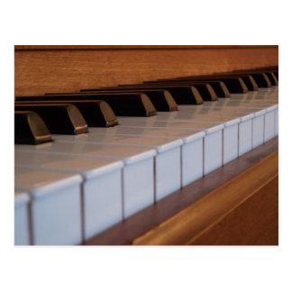 Postal del teclado de piano