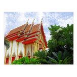 Postal del templo budista