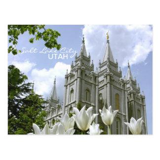 Postal del templo de SLC LDS